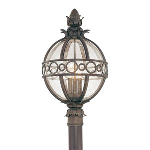 Campanile Campanile Bronze Three-Light Outdoor Post Light