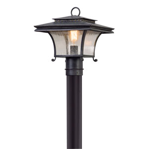 Grammercy Forged Iron One-Light Outdoor Post Mount