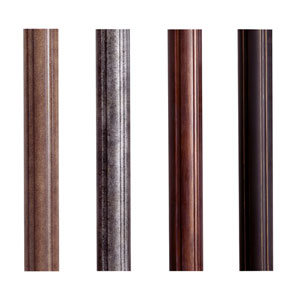 Roman Bronze Fluted Extruded Aluminum Mounting Post