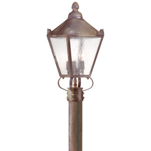 Natural Rust Preston Three-Light Post Mount Lantern
