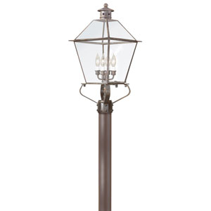Montgomery Natural Rust Four-Light Outdoor Post Lantern