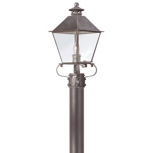 Montgomery Charred Iron One-Light Outdoor Post Lantern