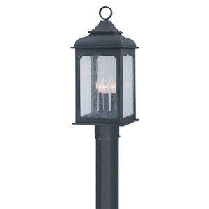 Williamsburg® Henry Street Fluorescent Charred Iron Exterior Post Light