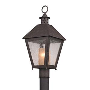 Sagamore Centennial Rust One-Light Fluorescent Post Mount