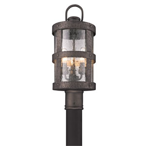 Bronze Barbosa Three-Light Fluorescent Post Mount