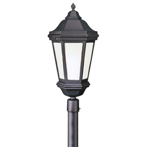Verona Fluorescent Matte Black Exterior Post Light