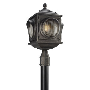 Main Street Aged Pewter One-Light LED Outdoor Post Mount