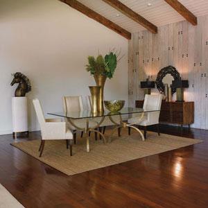 Studio A Teton Rectangular Gold Table