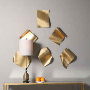 Fluttering Pages Gold 15-Inch Wall Decor, Set of 6
