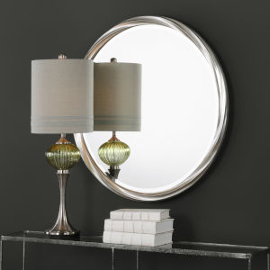 Orion Silver Round Wall Mirror