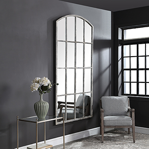 Amiel Gray and White Mirror