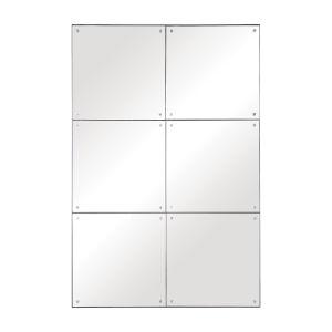 Eldred Silver 37-Inch Rectangular Wall Mirror