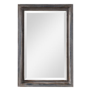 Gulliver Distressed Blue 21-Inch Rectangular Wall Mirror