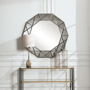 Manarola Black 48-Inch Decagon Shaped Mirror