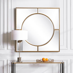 Stanford Gold 48-Inch Square Mirror