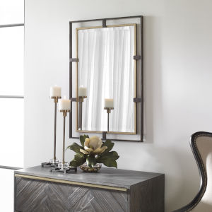 Carrizo Gold and Bronze Rectangle Mirror