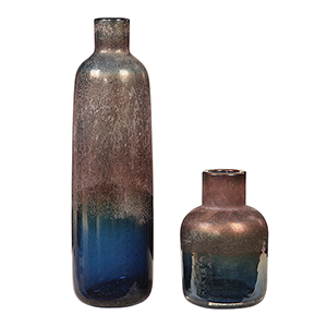 Korbin Blue and Bronze Vase