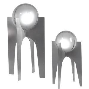 Ellianna Brushed Silver Sculpture, Set of 2
