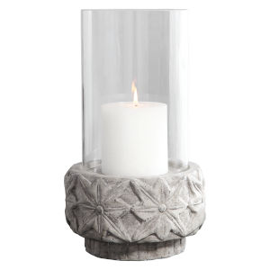Capistrano Charcoal Ceramic Candle Holder