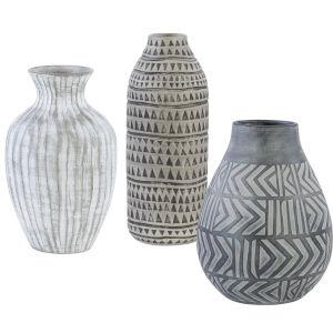 Natchez Natural Beige Vases, Set of 3