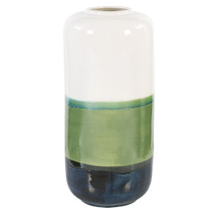 Keone White, Navy and Green Vase