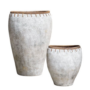 Dua Natural Stone Vase, Set of 2