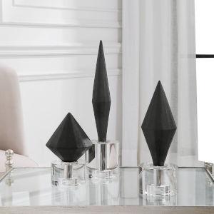 Alize Black Sculpture, Set of 3