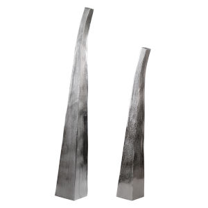 Aavya Nickel and Silver Vases, Set of 2