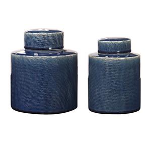 Saniya Blue Decorative Jar