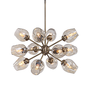 Chet Brass and Gold 12-Light Chandelier