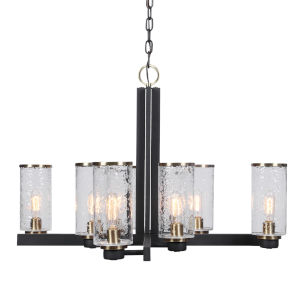 Jarsdel Black 8-Light Chandelier