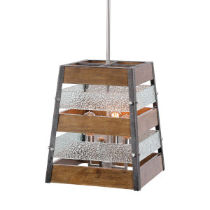 Glasshouse Brushed Nickel Four-Light Pendant