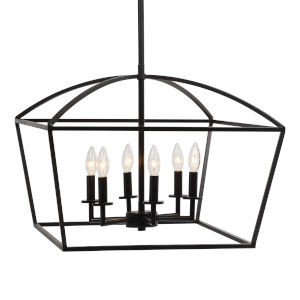 Clayton Deep Weathered Bronze Six-Light Pendant
