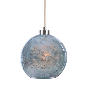 Gemblue Brushed Nickel One-Light Mini Pendant