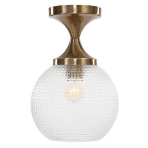 Bolla Aged Brass One-Light Semi Flush Mount