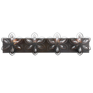Posey Bronze and Antique Gold Four-Light Wall Sconce