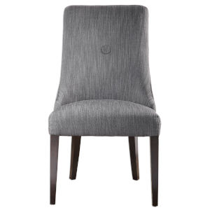 Patamon Gray and Walnut Armless Chair, Set of 2