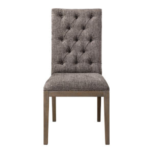 Amoria Brown Armless Chair, Set of 2