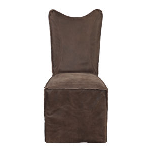 Delroy Brown Armless Chair, Set of 2