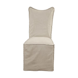 Delroy Ivory Armless Chair, Set of 2
