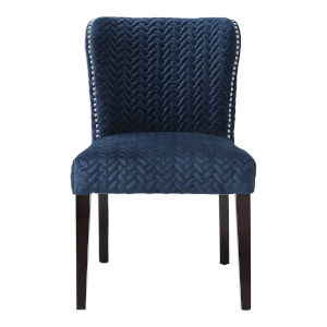Miri Blue Armless Chair, Set of 2