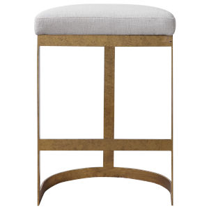 Ivanna Antique Gold Counter Stool