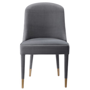 Brie Gray Armless Chair, Set of 2