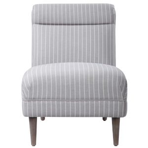 Grenada Light Gray and White Accent Chair