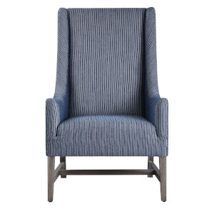 Galiot Blue and White Arm Chair