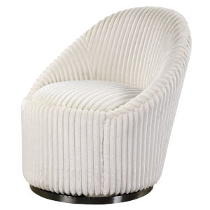 Crue Ivory Swivel Chair