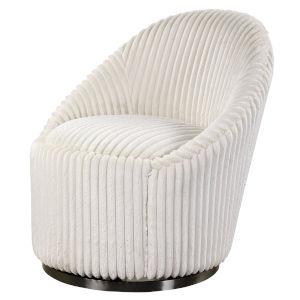 Crue Ivory Swivel Chair