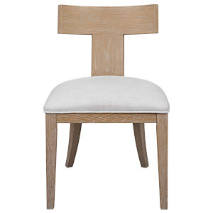 Idris Natural Oak Armless Chair
