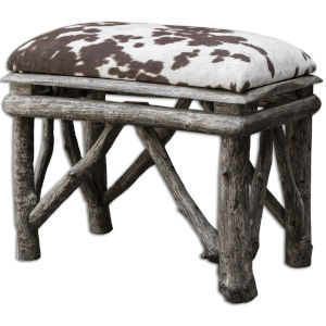 Chavi Brown, White and Woodtone Bench