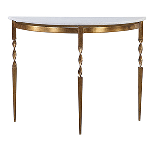 Imelda Gold and White Console Table